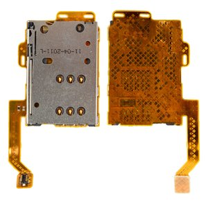 SIM Card Connector compatible with Nokia 701, C7-00, (with flat cable)