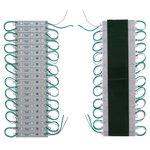 Juego de 20 módulos LED SMD 5050 (3 diodos LED por módulo, color verde, 1200 lm, 12 V, IP65)