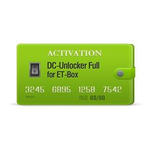 DC-Unlocker Full активация для ET-Box