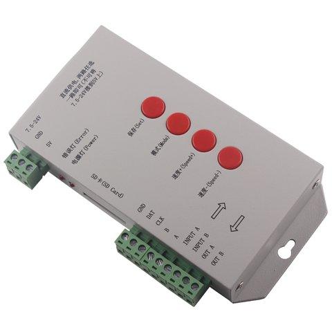 Контролер RGB T 1000S з підтримкою DMX 512, WS2811, WS2801, WS2812B, 15 A, SD карта