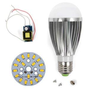 Комплект для сборки светодиодной лампы SQ-Q03 9 Вт (теплый белый, E27), диммируемый