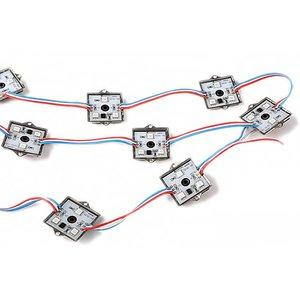 Комплект квадратних LED-модулів (WS2811, повноколірні, 3 світлодіоди SMD5050, IP67, 20 шт.)