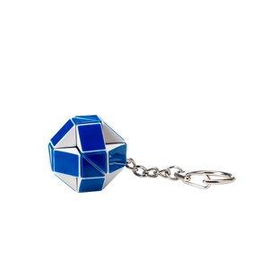 Міні-головоломка Кубік Рубіка Rubik's Змійка (біло-блакитна)