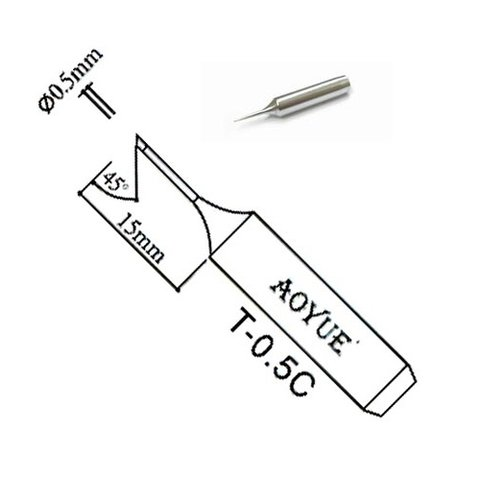 Soldering Iron Tip AOYUE T 0.5C