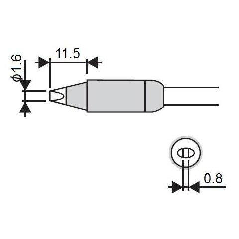 Soldering Iron Tip Goot RX 85HSRT 1.6D