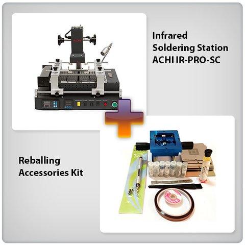 Estación de soldadura infrarroja ACHI IR-PRO-SC + Juego de accesorios para reballing