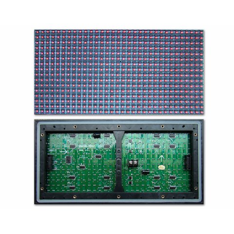 Outdoor LED Module P10 Blue 320 × 160 mm, 32 × 16 dots, IP65, 2000 nt