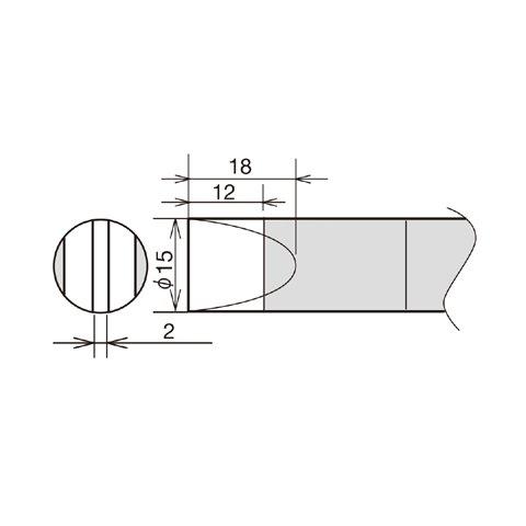 Soldering Iron Tip Goot RX 89HRT 15D